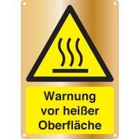 Warnung vor heißer Oberfläche - Kombischilder Premium Deluxe, EN ISO 7010