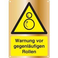 Warnung vor gegenläufigen Rollen - Kombischilder Premium Deluxe, EN ISO 7010