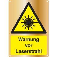 Warnung vor Laserstrahl - Kombischilder Premium Deluxe, EN ISO 7010