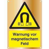Warnung vor magnetischem Feld - Kombischilder Premium Deluxe, EN ISO 7010