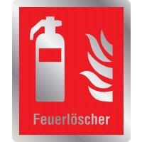 Feuerlöscher - Brandschutzschilder mit Symbol und Text, EN ISO 7010