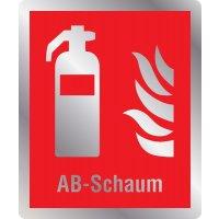 Feuerlöscher AB-Schaum - Brandschutzschilder mit Symbol und Text, EN ISO 7010