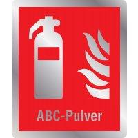 Feuerlöscher ABC-Pulver -  Brandschutzschilder mit Symbol und Text, EN ISO 7010