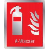 Feuerlöscher A-Wasser - Brandschutzschilder mit Symbol und Text, EN ISO 7010
