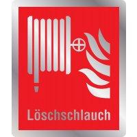 Löschschlauch - Brandschutzschilder mit Symbol und Text, EN ISO 7010