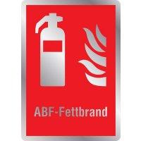 Feuerlöscher ABF-Fettbrand - Brandschutzschilder mit Symbol und Text, EN ISO 7010