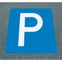 Parkplatz – Asphaltfolien zur Parkplatzkennzeichnung, R10 gemäß DIN 51130/ASR A1.5/1,2