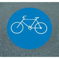 Sonderweg Radfahrer – Asphaltfolie zur Straßenmarkierung, R10 gemäß DIN 51130/ASR A1.5/1,2
