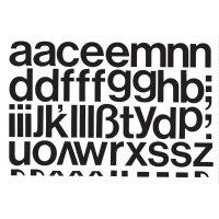 Kleinbuchstaben-Aufkleber auf Einzelkarten, selbstklebend