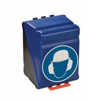 Kopfschutz und Gehörschutz benutzen - Aufbewahrungsboxen für Kombi-Schutzausrüstung