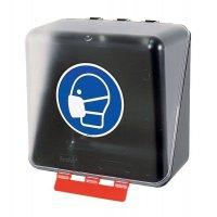 Maske benutzen - Aufbewahrungsboxen für Schutzausrüstung