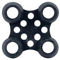 Bürsteneinsätze und Verbinder für Ringgummi-Einzelmatten