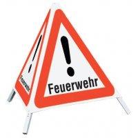 """Feuerwehr - Faltsignale mit Symbol """"Gefahrstelle"""""""