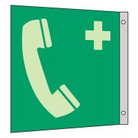 """Rettungszeichen-Symbol-Schilder """"Notruftelefon"""" nach EN ISO 7010"""