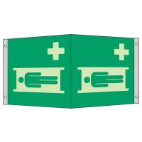"""Rettungszeichen-Symbol-Schilder """"Krankentrage"""" nach EN ISO 7010"""