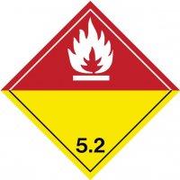 Organische Peroxide 5.2 - Aufkleber für den Transport gefährlicher Güter, GGVSEB, ADR, RID, IMDG, GGVSee, ADN