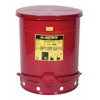 Entsorgungsbehälter für brandgefährdete Abfälle