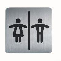 DURABLE WC Damen und Herren - Design-Piktogrammschilder, quadratisch