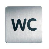 """Edelstahl-Text-WC-Schilder """"Toiletten / WC"""""""