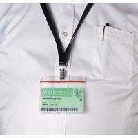 Ausweis-/Kartenschoner, elastisch, mit Gripverschluss