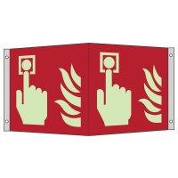 """Internationale Brandschutzzeichen-Schilder """"Brandmelder"""" nach EN ISO 7010"""