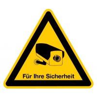 Für Ihre Sicherheit - Videokennzeichnung im Warn-Design