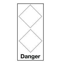 Gefahrstoffsymbol-Grundplaketten mit 2 Symbolen gemäß GHS/CLP-Verordnung