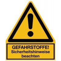 Allgemeines Warnzeichen - Warnsymbol-Kombi-Schilder für Gefahrstoffe