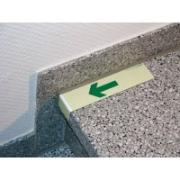 Everglow® Treppenwinkel, Pfeil abwärts - Fluchtwegkennzeichnung, bodennah, langnachleuchtend
