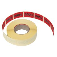 Lageretiketten aus Papier, nummeriert