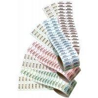 Lageretiketten aus Polyester, nummeriert