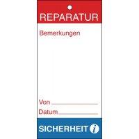 Reparatur – Anhänger für Wartungs- und Inspektionsdaten