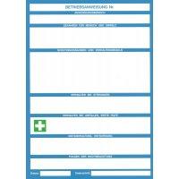 Blanko-Betriebsanweisungen für Maschinen, zum Selbstbeschriften