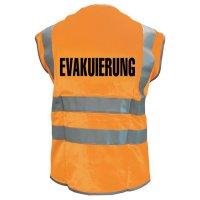 EVAKUIERUNG - Warnwesten mit Standardtext, EN ISO 20471:2013
