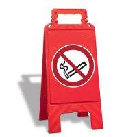 Rauchen verboten - Warnaufsteller mit Sicherheitssymbolen, EN ISO 7010