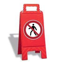 Für Fußgänger verboten - Warnaufsteller mit Sicherheitssymbolen, EN ISO 7010