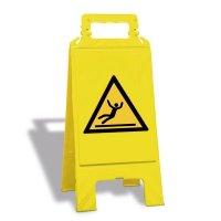 Warnung vor Rutschgefahr - Warnaufsteller mit Sicherheitssymbolen, EN ISO 7010