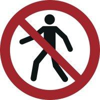 Für Fußgänger verboten - Verbotszeichen zur Bodenmarkierung