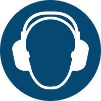 Gehörschutz benutzen - Gebotszeichen zur Bodenmarkierung