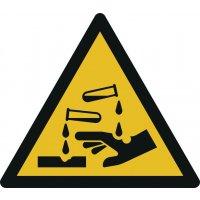 Warnung vor ätzenden Stoffen - Warnzeichen zur Bodenmarkierung