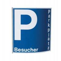 Parkplatzschild mit Text nach Wunsch, gewölbt