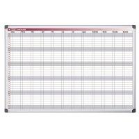 Bi-Office Jahresplanungstafel mit 52-Wochen-Raster, magnetisch