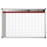 Bi-Office Jahresplanungstafel mit 12-Monats-Spalten, magnetisch