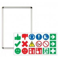 Plakatrahmen mit Verhaltensregeln Starter-Set