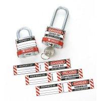 Lockout-Etiketten für Stahlvorhängeschlösser