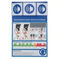 Gehörschutzstöpsel - Sicherheitsinformationen für den Arbeitsplatz