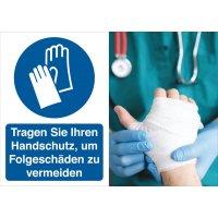 Handschutz benutzen – Symbolschilder Prävention