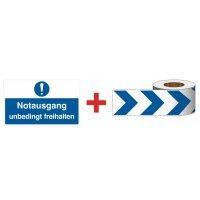 Gebotszeichen – Wandmarkierung-Sets, rechteckig, EN ISO 7010