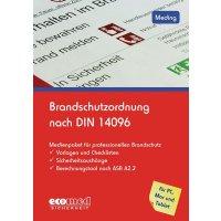 """Handbuch und CD-ROM """"Brandschutzordnung nach DIN 14096"""" für Arbeitssicherheit und Gesundheitsschutz"""
