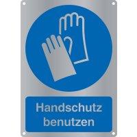 """Kombi-Gebotszeichen-Schilder """"Handschutz benutzen"""" nach EN ISO 7010"""